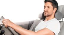 Ортопедическая подушка с эффектом памяти под голову на автомобильное сиденье TRELAX AUTOHEAD П16