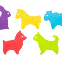 Мини-коврики детские противоскользящие для ванной » ANIMALS», 5 шт.