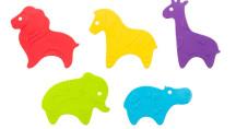 Мини-коврики детские противоскользящие для ванной » Safari «, 5 шт.